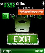 Exit 03 theme screenshot