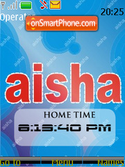 Aisha SWF Clock theme screenshot