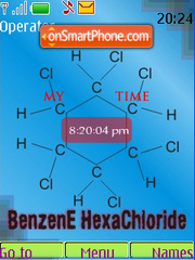 Benzene HexaChloride SWF Clock theme screenshot