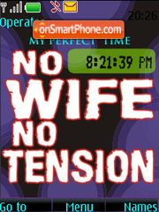 No Wife No Tension SWF CLOCK theme screenshot