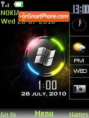 Neon Windows Sidebar theme screenshot
