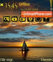 Sunset 10 tema screenshot