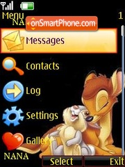Bambi Clock theme screenshot