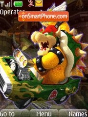 Bowser Kart theme screenshot