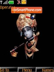 Krishna With Tone theme screenshot