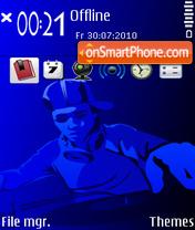 DJ Blue theme screenshot