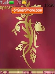 Gold vector theme screenshot