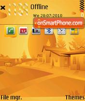 Orange nature es el tema de pantalla