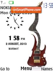 Twisted Guitar Clock es el tema de pantalla
