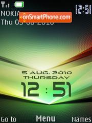 Green Clock 01 theme screenshot