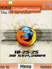 Firefox Clock es el tema de pantalla