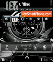 Android Clock tema screenshot