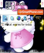 Hello Kitty 568 es el tema de pantalla