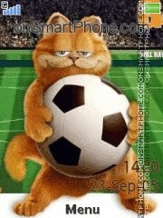 Garfield End Soccer theme screenshot