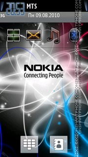 Nokia Galaxy theme screenshot