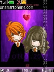 Ron+Germione=Love es el tema de pantalla