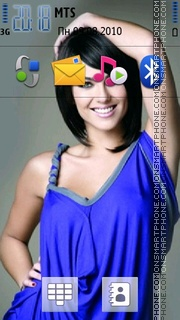 Barbara Mori 01 theme screenshot
