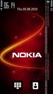 Nokia Red 02 theme screenshot