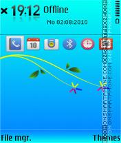 S60 blue 03 theme screenshot