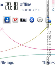 S60 white 01 theme screenshot
