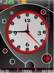 Analog clock theme screenshot