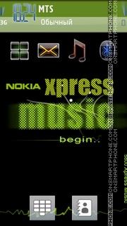 Xpress Music Green 01 theme screenshot