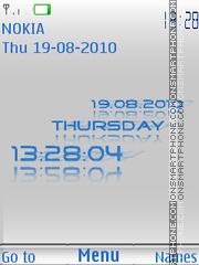 Reflection Clock theme screenshot