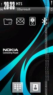 Capture d'écran Blue Nokia thème