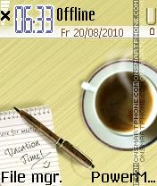 Coffee es el tema de pantalla