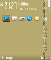 GOLD NSeries 1.2 es el tema de pantalla