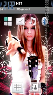 Avril Lavigne 10 theme screenshot