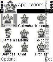 Animated Ganesha theme screenshot