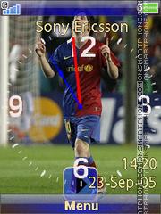 Messi swf es el tema de pantalla