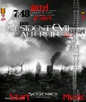 Resident evil afterlife es el tema de pantalla
