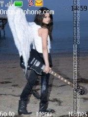 Selena Gomez Angel theme screenshot