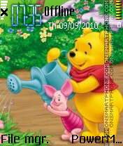 Pooh and piglet theme screenshot