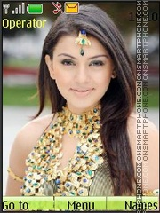 Hansika Motvani theme screenshot