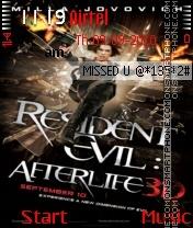 Resident Evil Afterlife ND es el tema de pantalla
