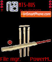 Animated Cricket World Cup theme screenshot