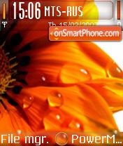 Orange theme screenshot