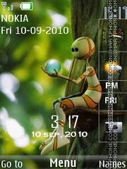 Alien SWF With Tone theme screenshot