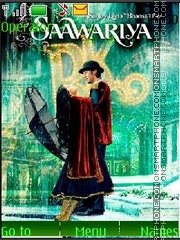 Saawariya theme screenshot