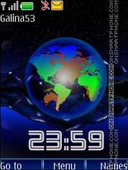 Earth clock anim theme screenshot