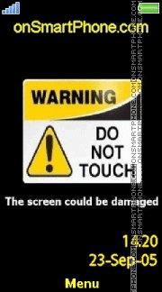 Warning 02 es el tema de pantalla