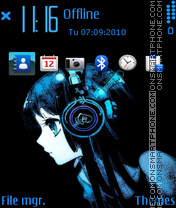 Blue dream 01 theme screenshot