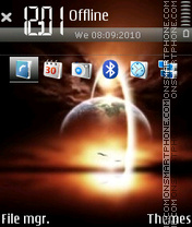 SunSet 15 tema screenshot