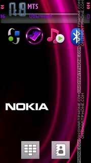 Purple Nokia 01 theme screenshot