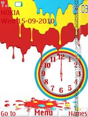 Colorfull Clock theme screenshot