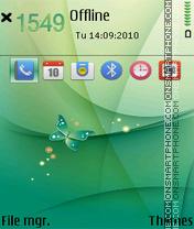 Butterflly abstract es el tema de pantalla
