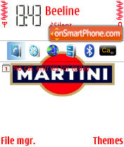 Martini es el tema de pantalla